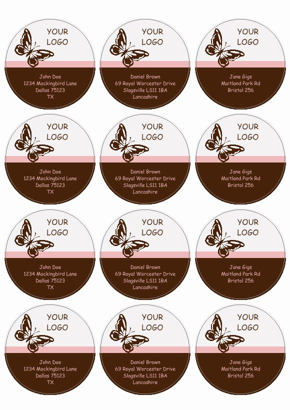 Round Labels and Circular Labels Template