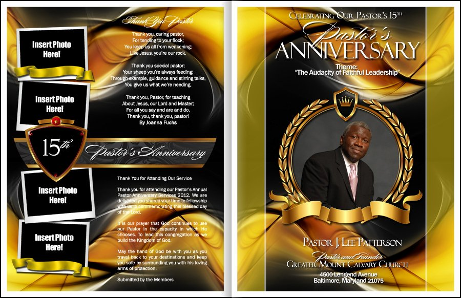 sacrament pastor anniversary program