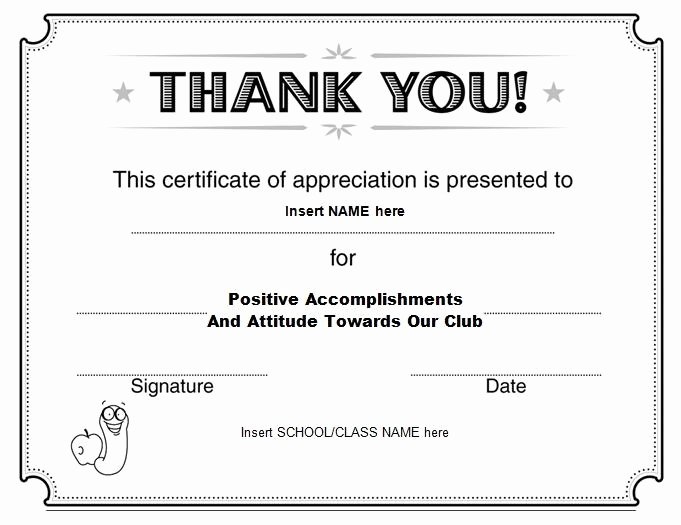 Sample Certificate Appreciation Template
