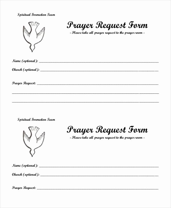 Sample Prayer Request form 10 Free Documents In Pdf