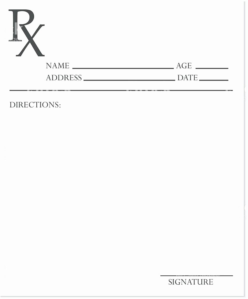 Sample Prescription Pad Template Blank Templates In C