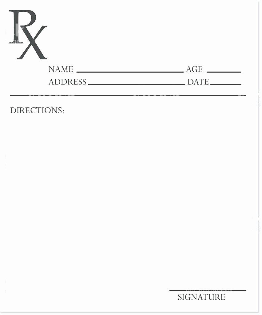 Sample Prescription Pad Template Blank Templates In C