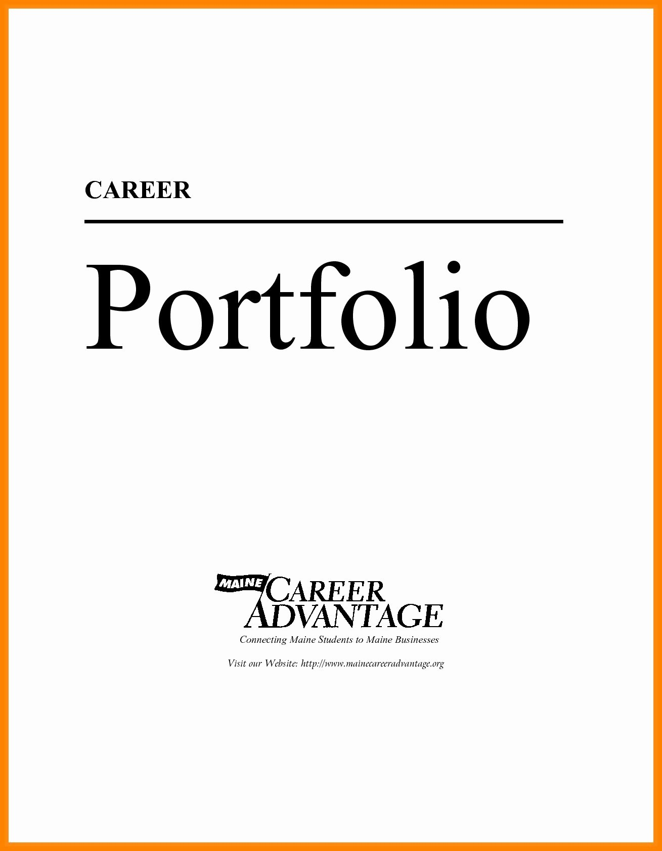 Sample Student Portfolio Cover Page Valid Portfolio Cover