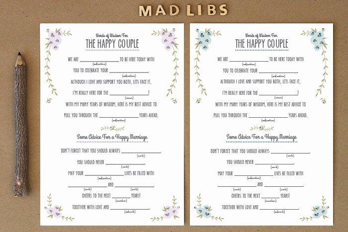Savvy Deets Bridal Diy Rustic Mad Libs Printable Love