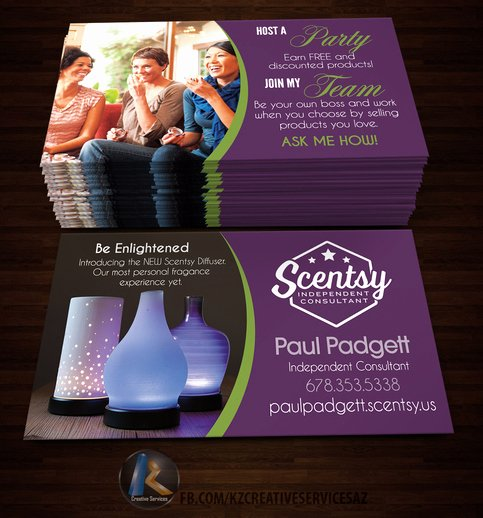 Scentsy Business Cards Style 4 · Kz Creative Services