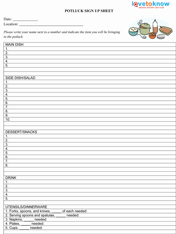 """Search Results for """"word Templates Potluck Sign Up Sheet"""