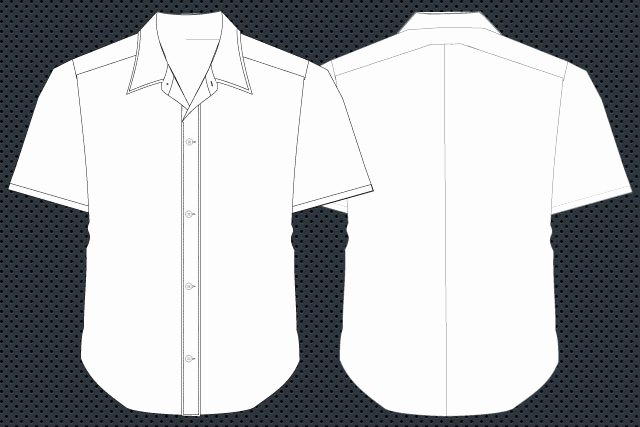 Shirt Template Vector Front and Back