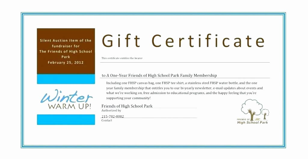 Silent Auction Certificate Template Luxury Donation