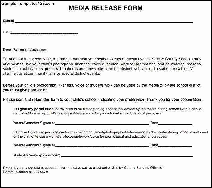 Social Media Release form