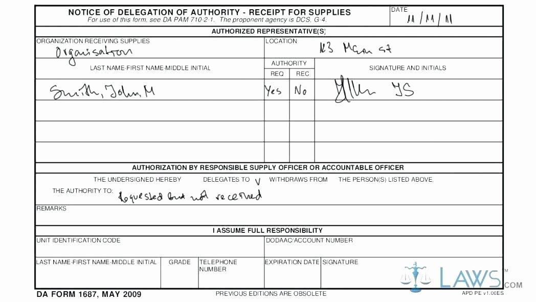 Sub Hand Receipt Excel form Excel Army Hand Receipt Sub