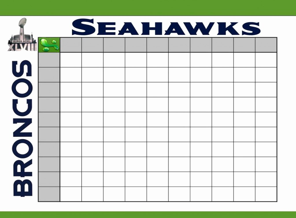 Super Bowl Football Pool Template