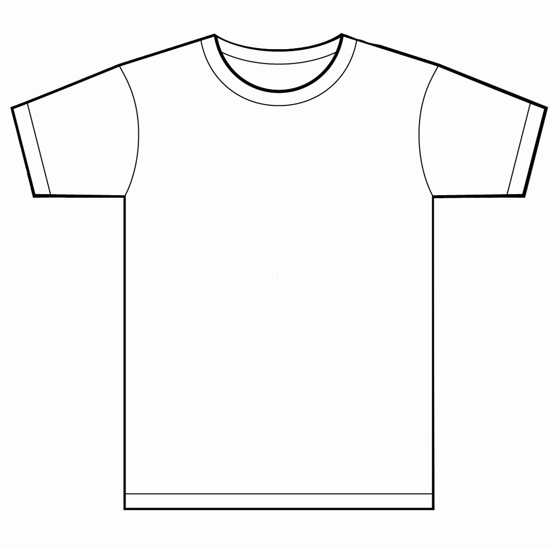 T Shirt Template for Kids Clipart Best