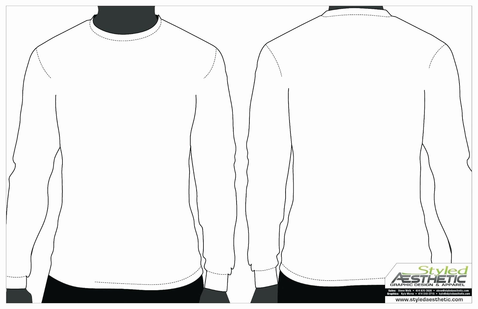 Template Blank Clothing Design Template Long Sleeve Tee