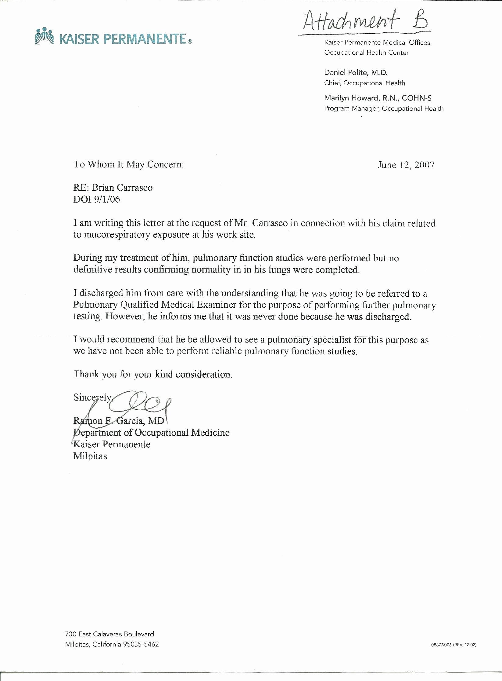 Template Kaiser Permanente Doctors Note Template