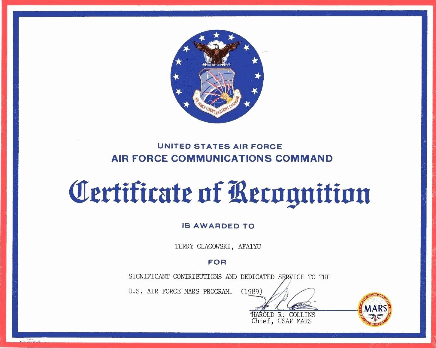 Template Long Service Award Certificate Template