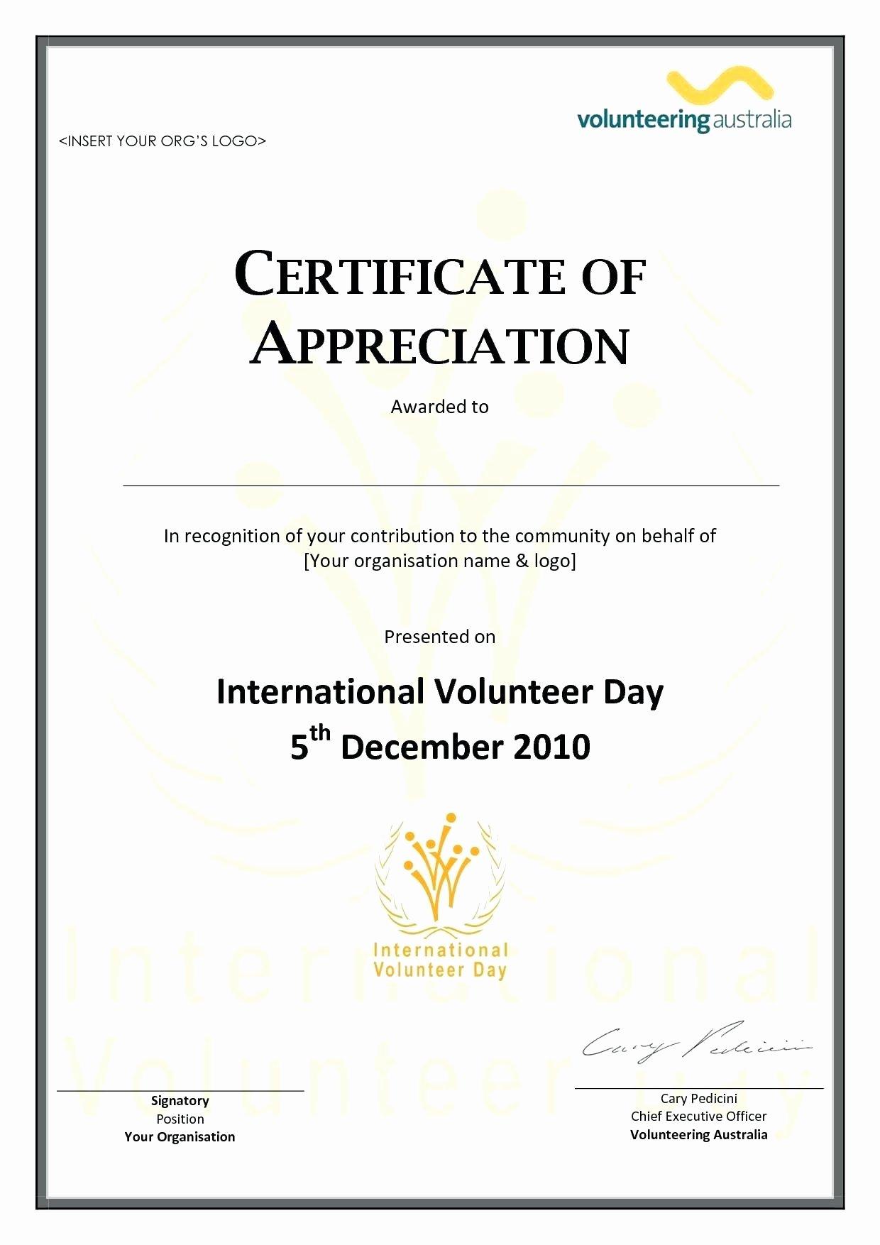 Template Pastor Appreciation Certificate Template