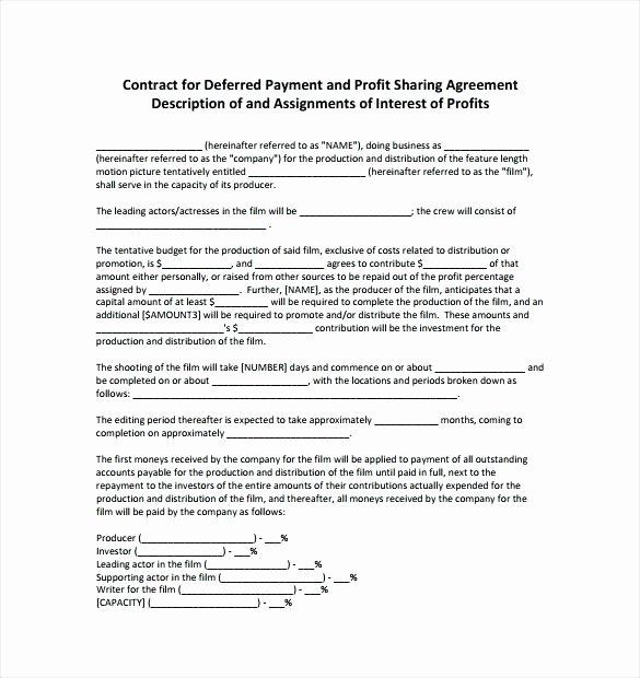 Template Profit Agreement Template