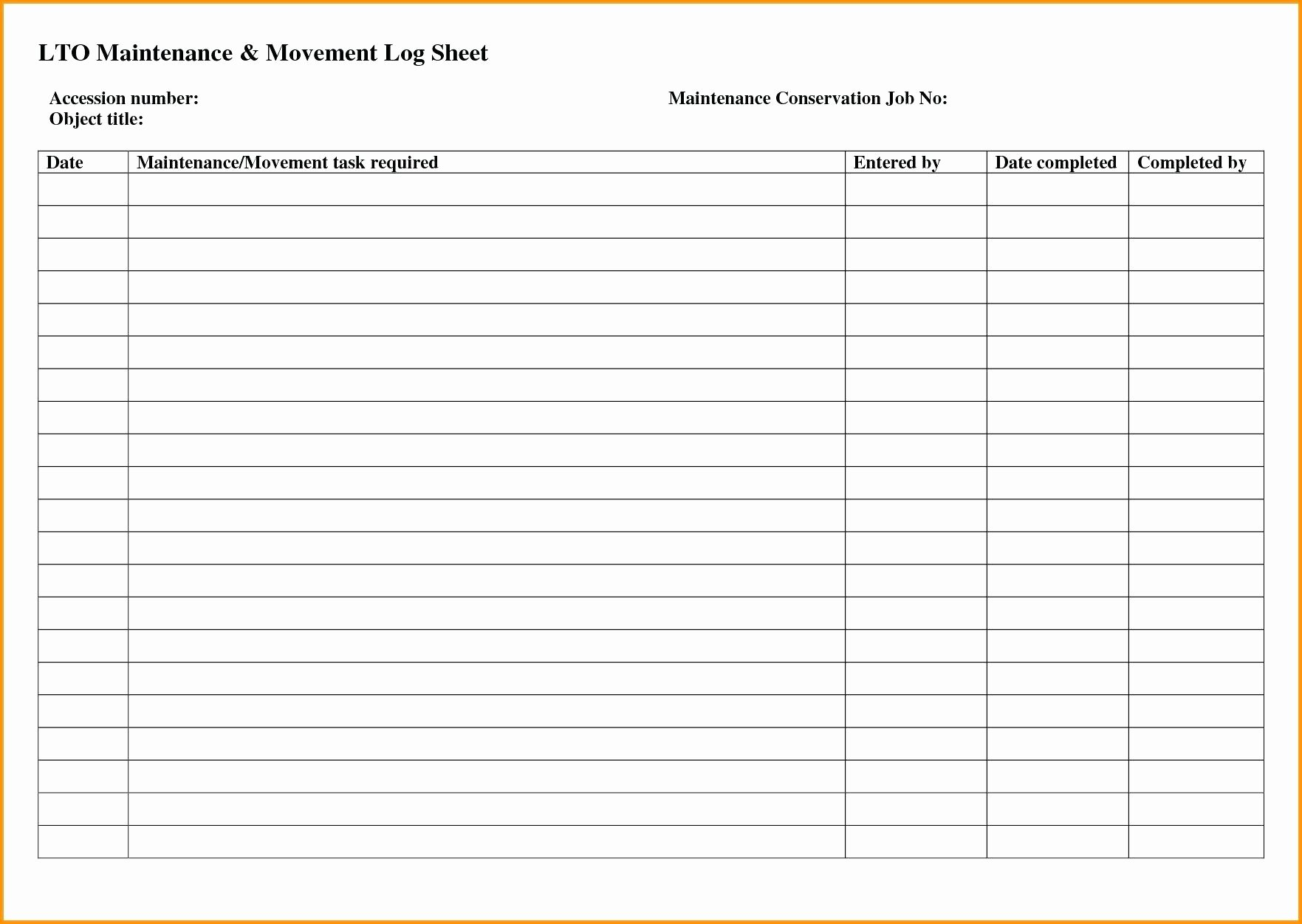Template Vehicle Fuel Log Template