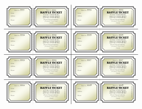 Templates Certificates Raffle Tickets Tickets Certificates