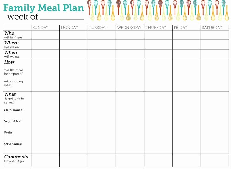The 25 Best Weekly Meal Planner Template Ideas On