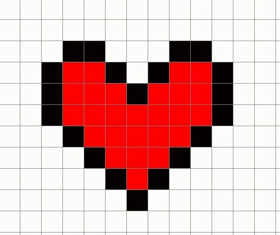 The Gallery for Pixel Heart Minecraft