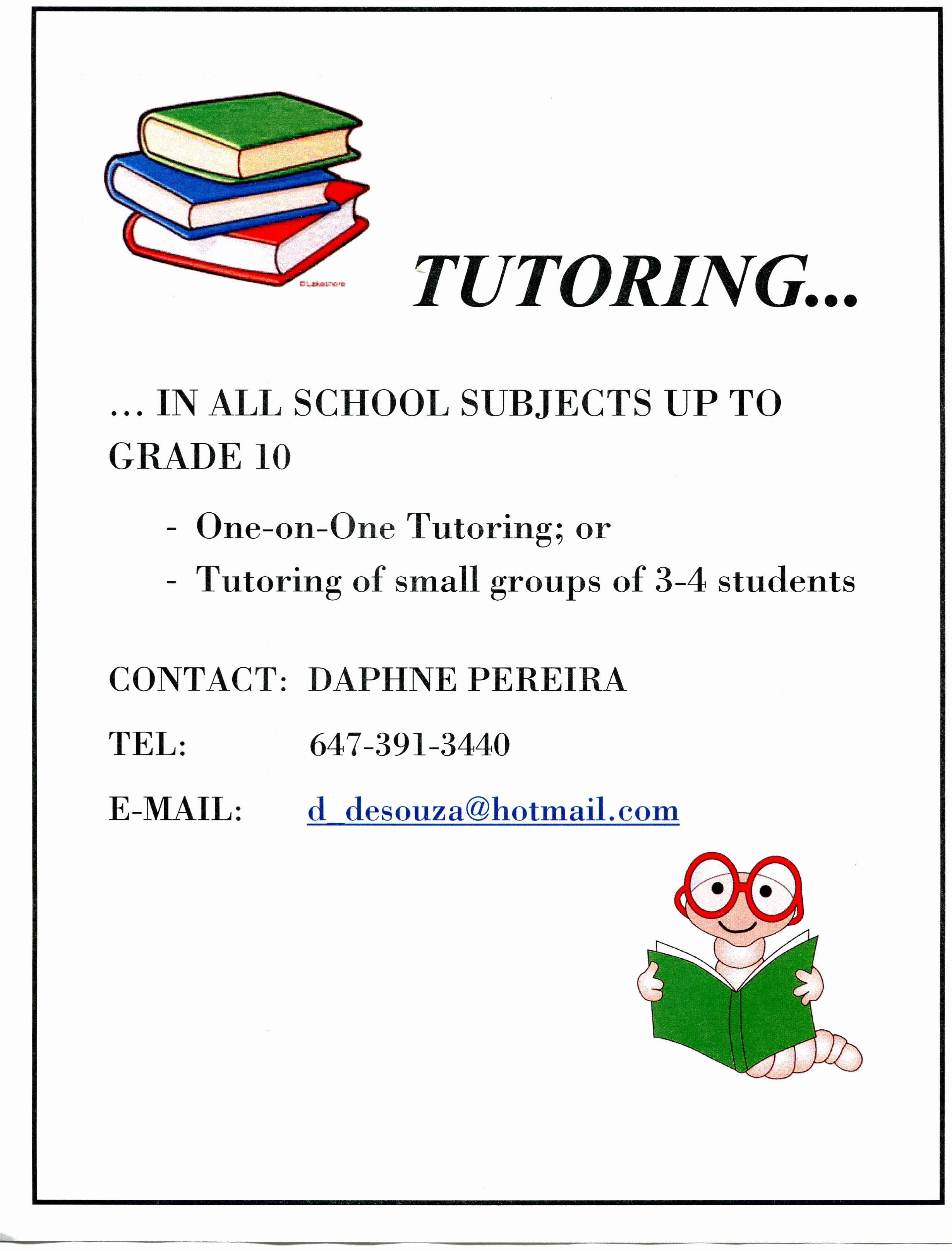 Tutor Flyers Template