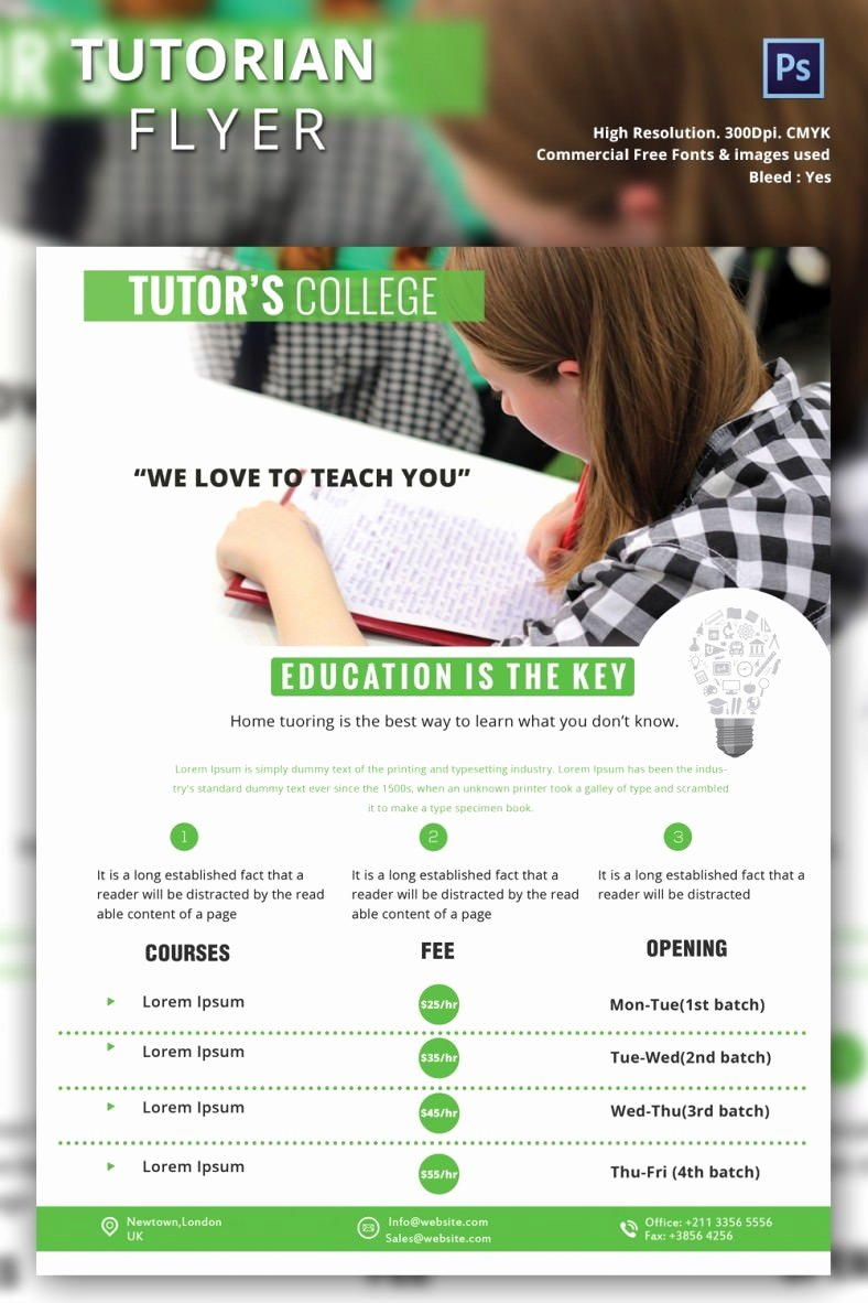 Tutoring Flyer Template 26 Free Psd Ai Vector Eps