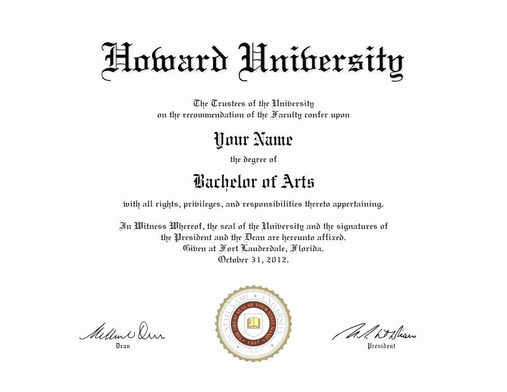 University Diploma Template Fake Bachelor Degree