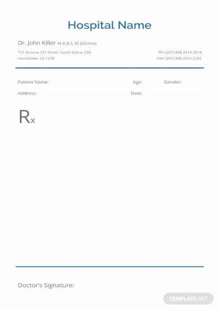 Urology Doctor's Prescription Template In Microsoft Word