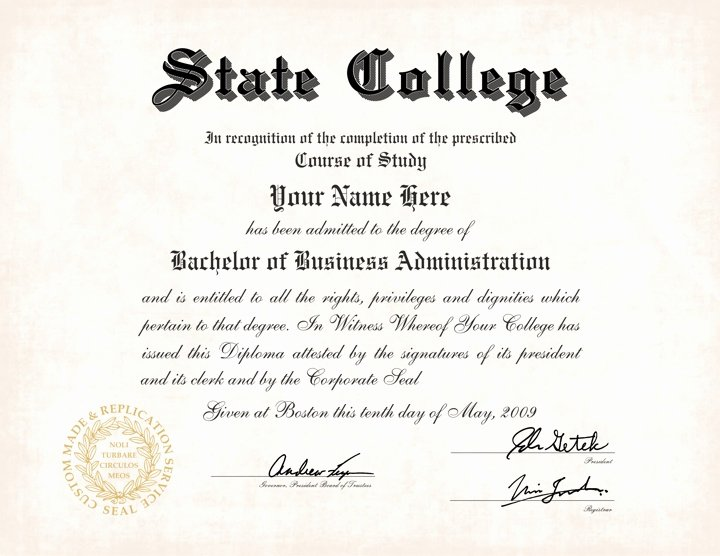 Us College Diploma Style 5