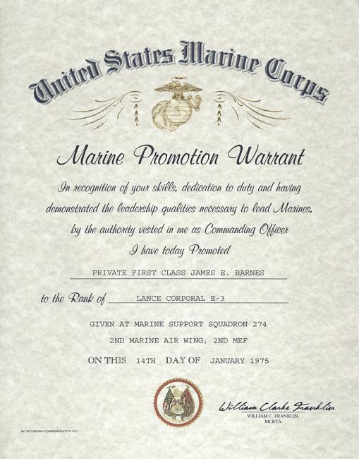 Usmc E 2 E 3 Enlisted Promotion Warrant