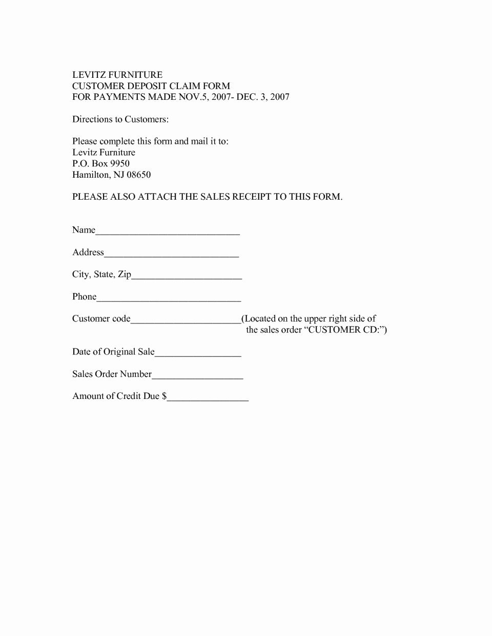 Vehicle Deposit form Alberta Non Refundable Motor