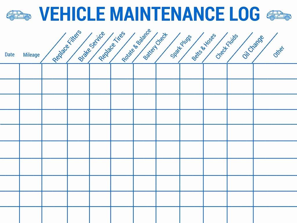 vehicle maintenance log