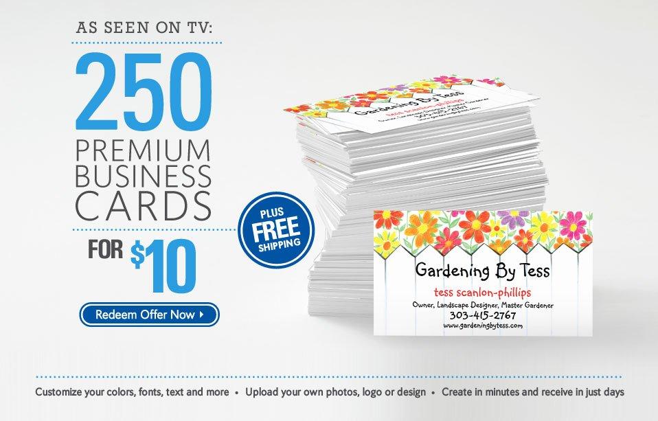 vistaprint business card promo