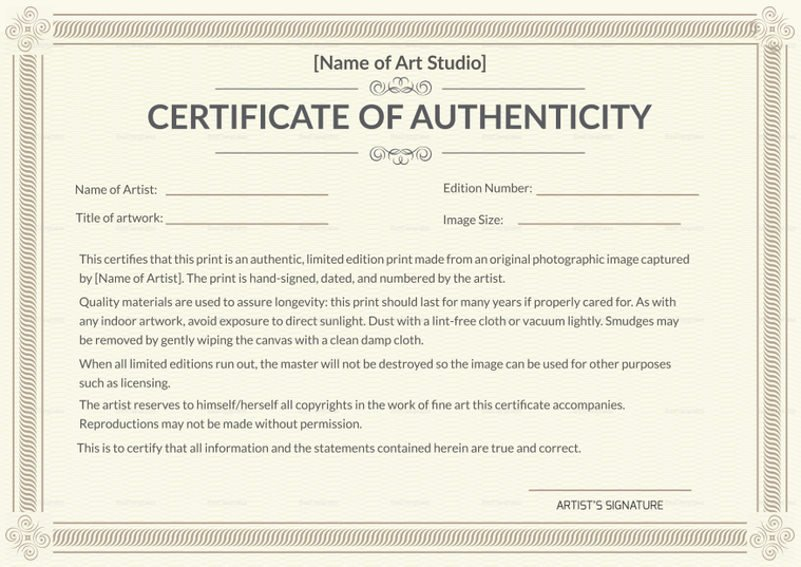 Why is Having A Certificate Of Authenticity Essential In