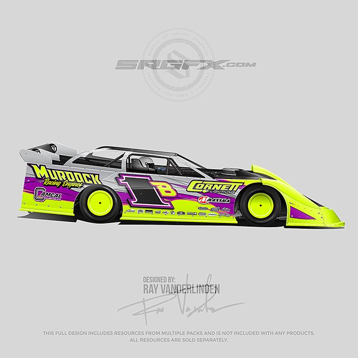Xr1 Rocket Chassis Dirt Late Model Template