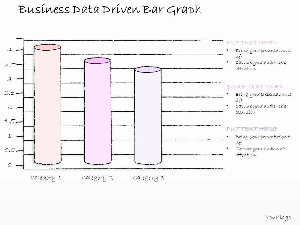 0614 Business Ppt Diagram Business Data Driven Bar Graph