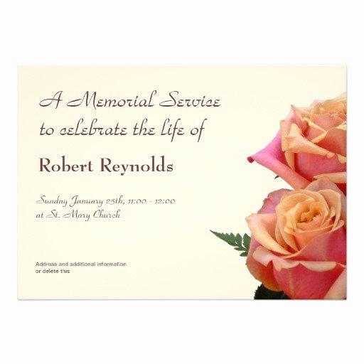 1 000 Memorial Service Invitations Memorial Service