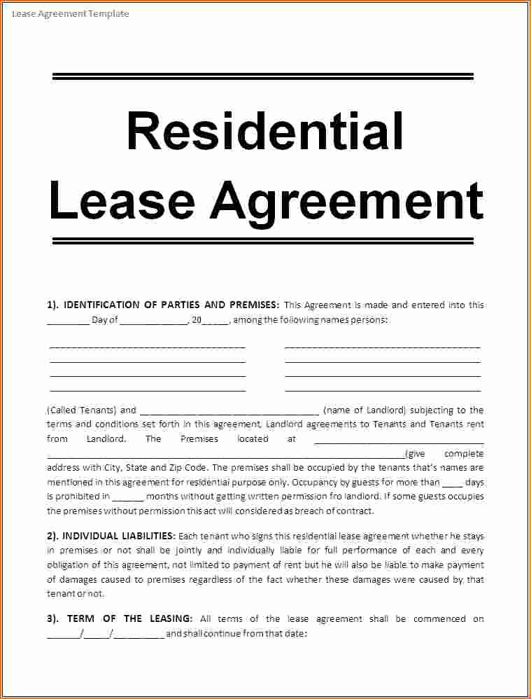 1 Page Printable Lease Agreement Fake Cereal Box Generator