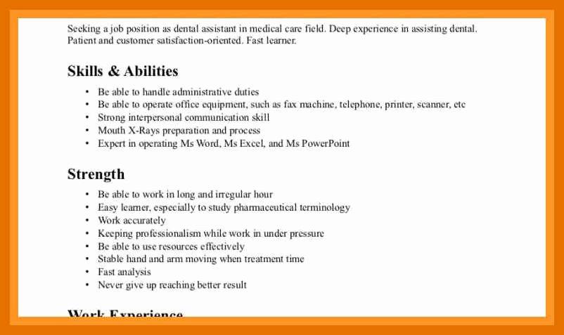 10 11 Resume Skills List