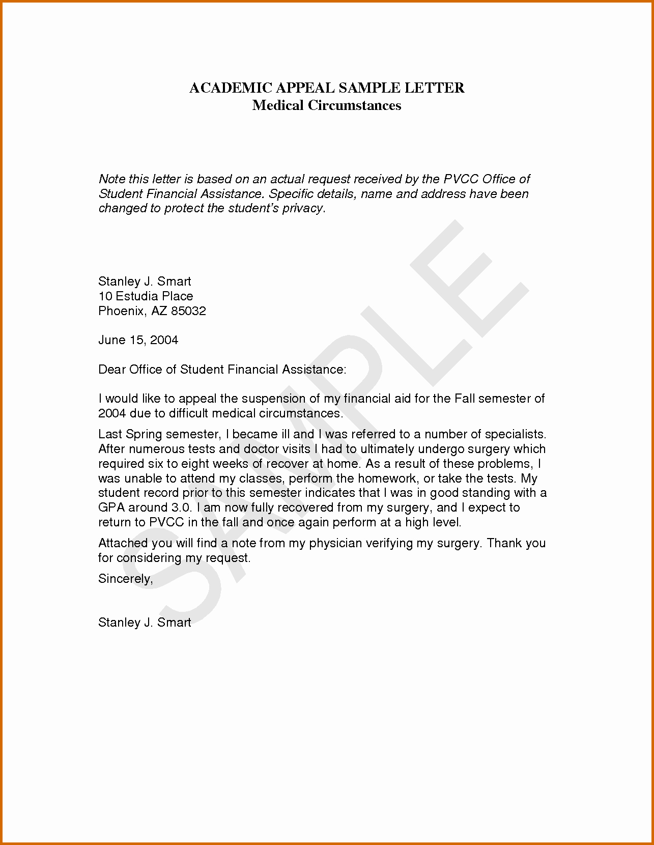 10 Academic Dismissal Appeal Letter Example