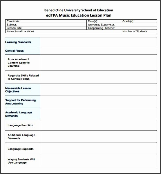 10 Academic Lesson Planner Template Sampletemplatess