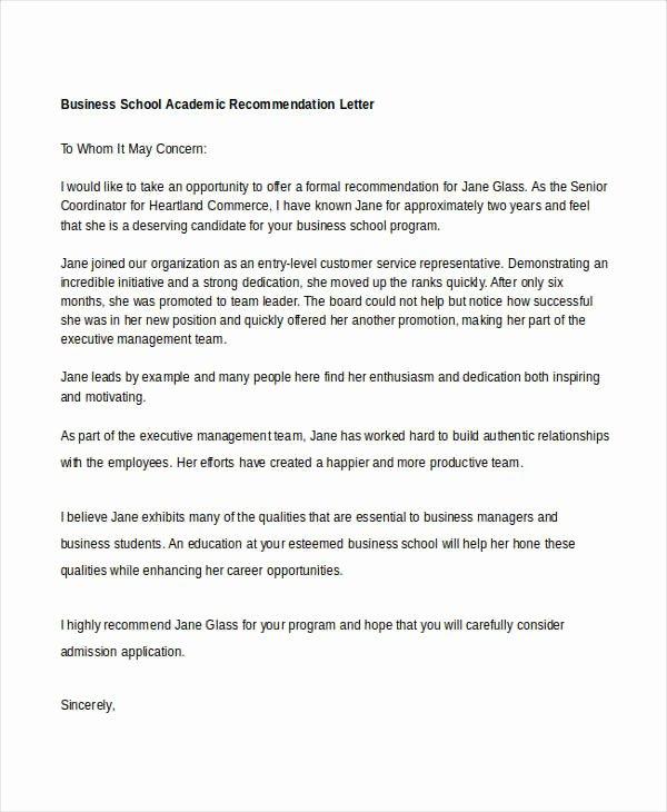 10 Academic Re Mendation Letters