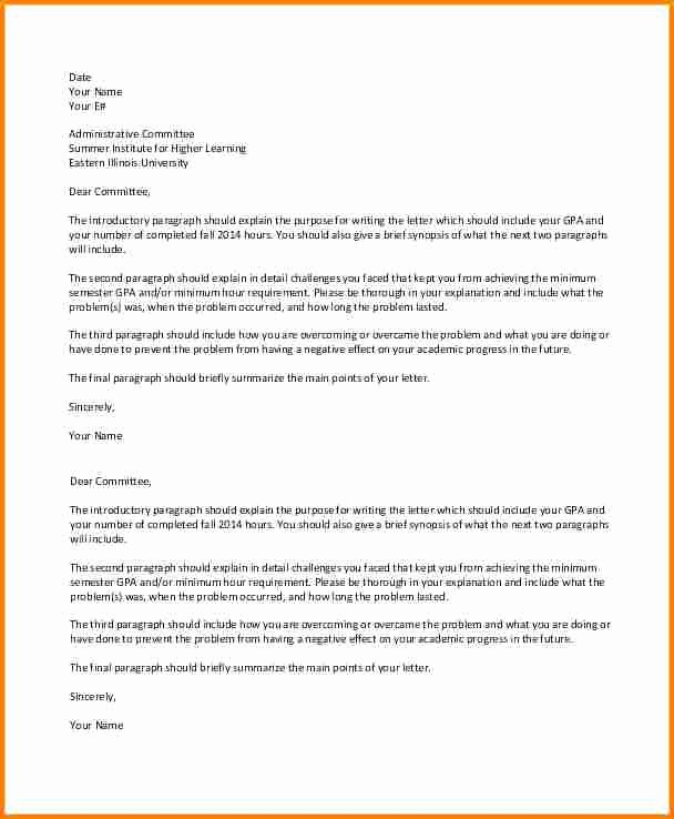 10 Academic Suspension Appeal Letter Sample
