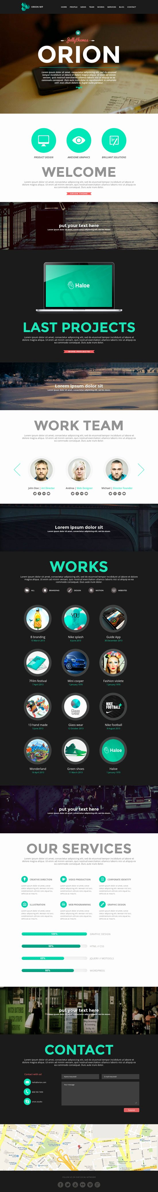 10 Amazing E Page Parallax Scrolling Website Templates