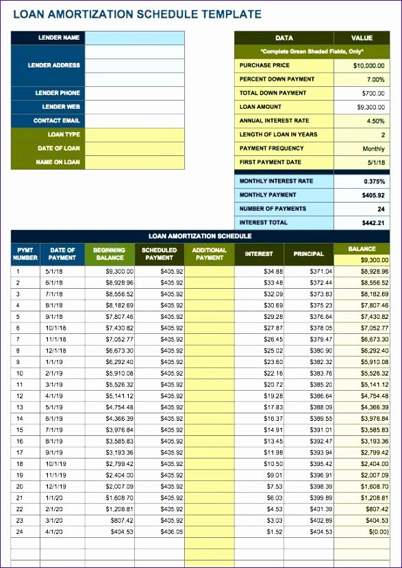 10 Amortization Table Excel Template Exceltemplates