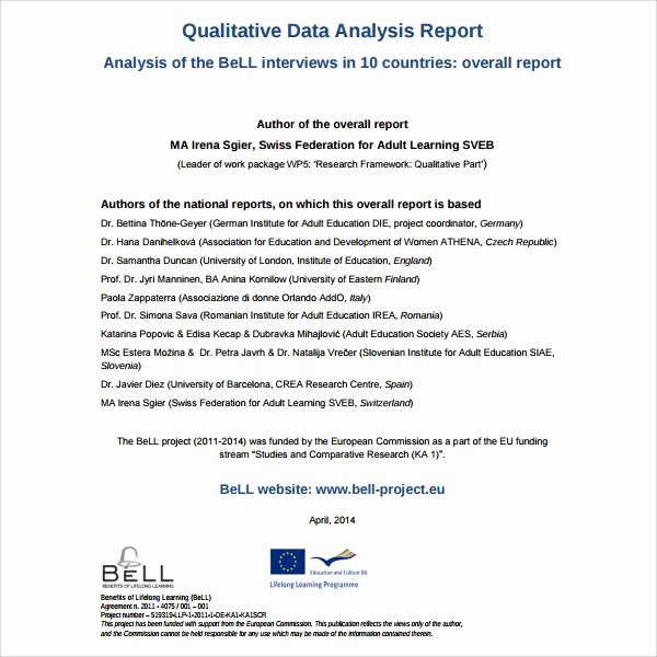 10 Analysis Report Templates – Free Samples Examples