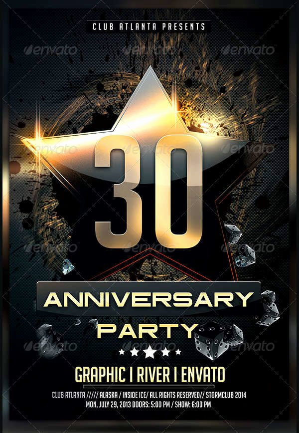 10 Anniversary Party Flyers