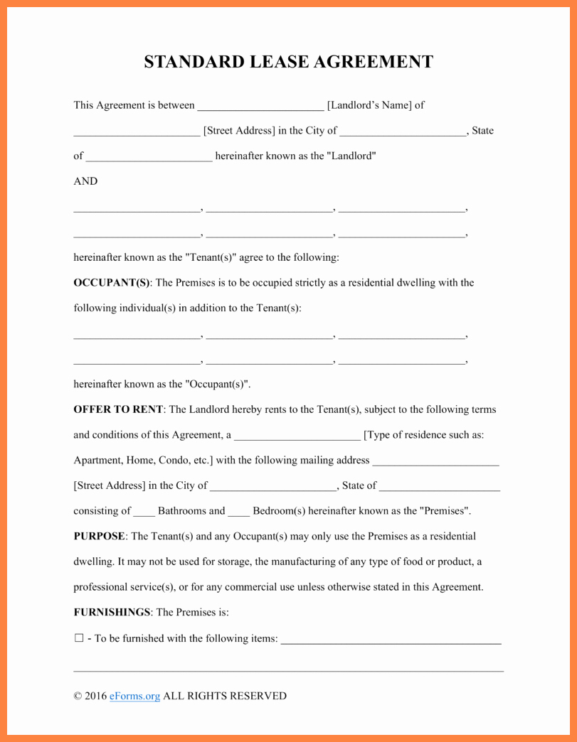 10 Apartment Rental Agreement