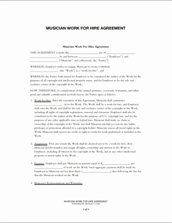 10 Awesome Collection Of Work for Hire Agreement Templates